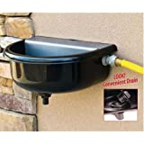 H2O Animal Hydration Tough Guy Automatic Waterer with Drain for pets, 1.5 gallons