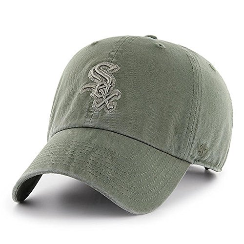 '47 Brand Chicago White Sox Clean up Dad Hat Cap Moss Green