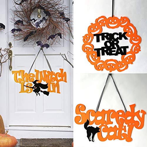 Party Diy Decorations - 3pcs Non Woven Halloween Party Witch Skull Pumpkin Trick Or Treat Wall Hanging Ornaments Decoration - Paper Skull W203 Card Deer Dinosaur Stamp Solenoid Mg3 Pumpkin