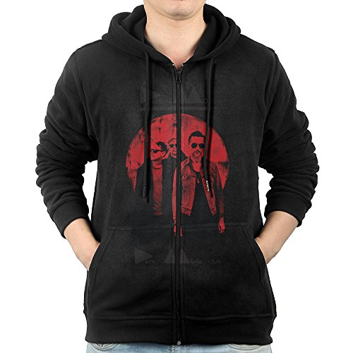 JLJK Men's Depeche Band Mode Full Zip Sweatshirt Jackets Black Size L