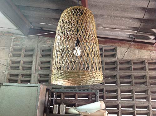 Kitchen pendant light bamboo pendant light fixture, kitchen island light, bamboo lamp, wicker lamp, basket lamp, island pendant light