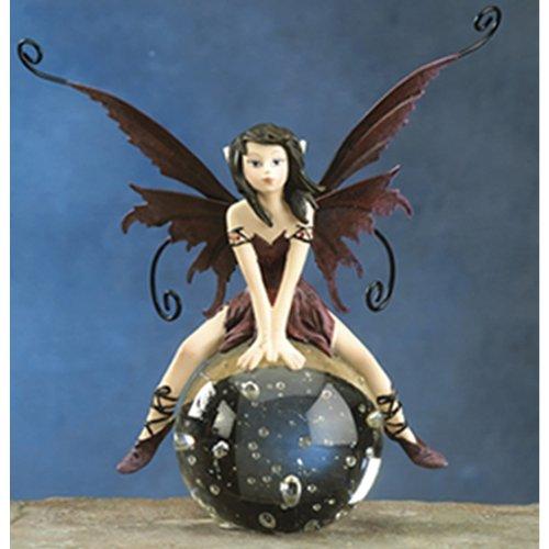 Gorgeous Fairy Collection Dream Fairy Sitting on Glass Ball Figurine Statue Shelf Desk Decoration (Dream Fairy Figurine)