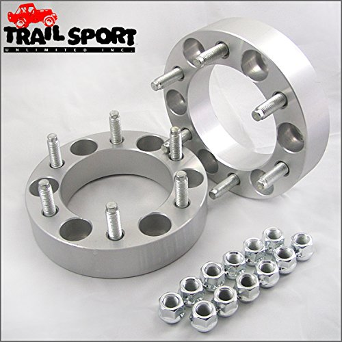 trailsport4x4 1.5 inch Wheel Spacer Kit with Studs for Older Chevy/GMC - 6x5.5 Hub with 7/16 hardware ()
