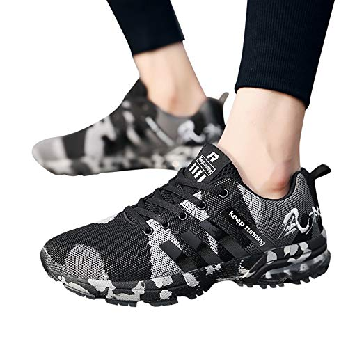 Noir Baskets Sport Air Trainers Taille Sneakers Bazhahei Jogging Walk Hommes Running 5 6 Gym Sports Course Fitness Casual De 12 Chaussures Athltique nxnfaw61