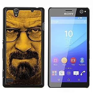 Rompiendo Blanca Meth- Metal de aluminio y de plástico duro Caja del teléfono - Negro - Sony Xperia C4 E5303 E5306 E5353