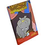 Japan Walt Disney Official Dumbo - Classic Design Hardcover Red B6 Big Large Business Notebook with Lined White Pages Sheets Thick Cover School Supply Stationery Pad Journal Diary Paper Memo Note
