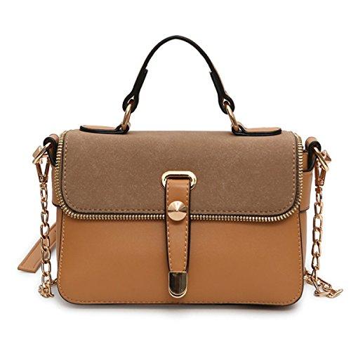 Frauen Umhängetasche Tote Messenger Mini PU Leder Crossbody Umhängetasche Handtasche (3 Farben) Brown