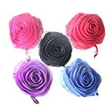Beautiful Rose Eco-Friendly Nylon-Folding Shopping Bag - Set of 3 Assorted Bags