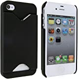 iPhone 4s and iPhone 4 Silicone Case with Credit Card Slot - Black