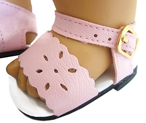 b5832610d5ec5c Doll Clothes Sew Beautiful Pink Sandals For Bitty Baby By