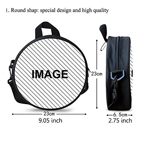 Circle Round Bag Backpack Girls for FashionPaint Stylish W8cc0602i Print txZqnPI