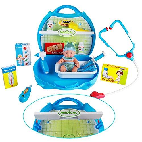 Condant Maletín de médico juguete kit Pretend & Play Estetoscopio Kit Médico Conjunto Mmédico, Juguetes y Regalo de los Niños: Amazon.es: Juguetes y juegos