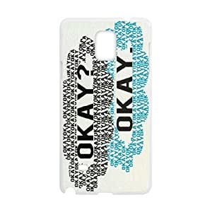 AKERCY okay okay Phone Case For Samsung Galaxy note 4 [Pattern-4]