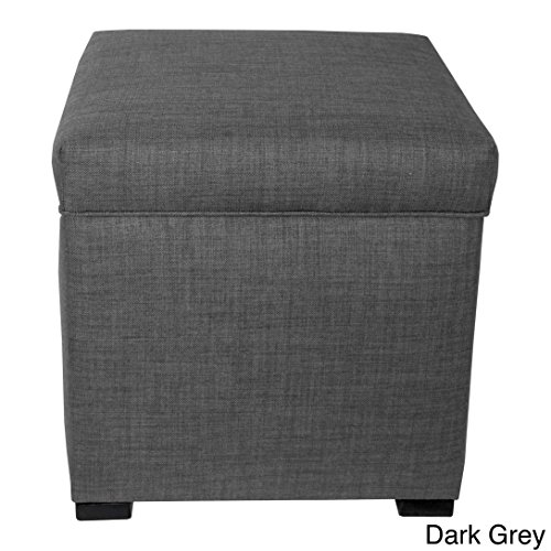 The Sole Secret Mini Shoe Storage Ottoman, 18.5''L x 19''H x 19''W, Dark Grey by MJL Furniture Designs