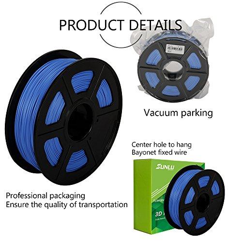 -[ SUNLU 3D Printer Filament PLA Plus, 1.75mm PLA Filament, 3D Printing Filament Low Odor, Dimensio