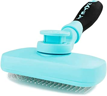 Cat Brush and Dog Brush with Long or Short Hair Self Cleaning Slicker Brush for Shedding and Grooming