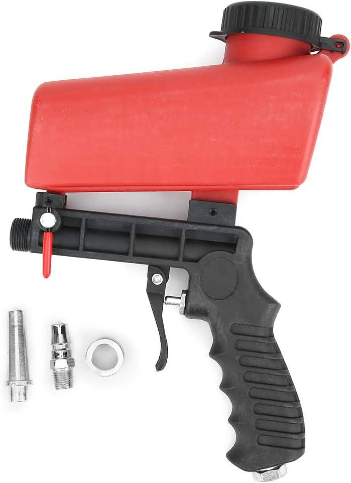 Herramienta de chorro de arena 90PSI, pistola de chorro de arena neumática, pequeña máquina de chorro de arena de mano, para pulido con chorro de arena, eliminación de óxido de metal, acabado de detal