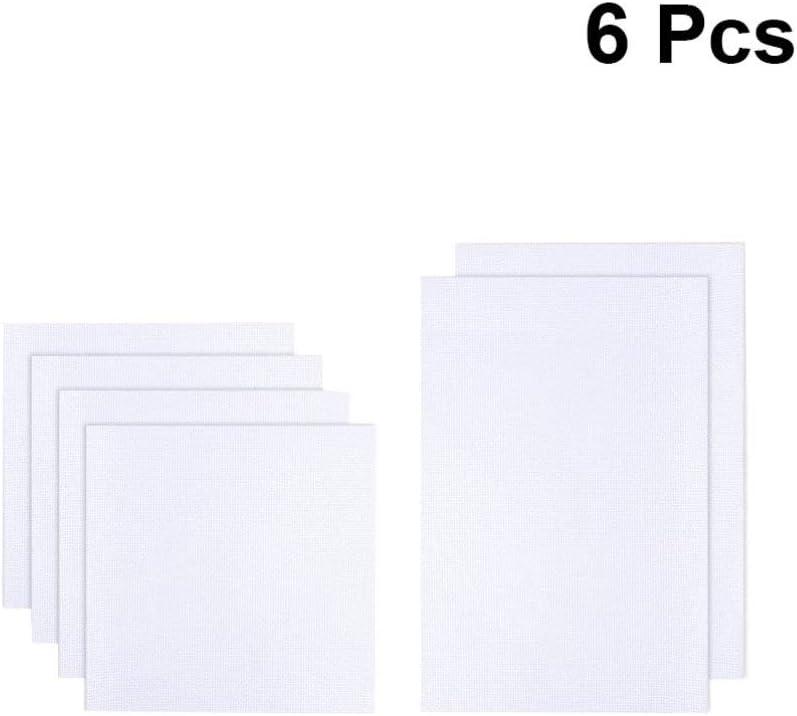 couture et loisirs cr/éatifs HEALLILY Lot de 6 tissus pour point de croix Blanc pour travaux manuels
