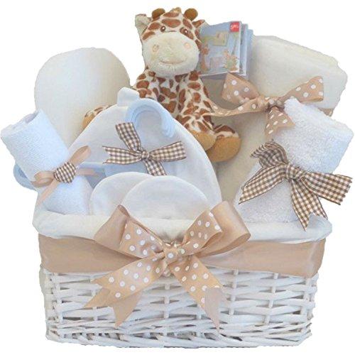 Monsieur Girafe DELUXE Unisexe Cadeaux pour nouveau-nés Panier à Bébé Panier Fille Fille | Baby Shower Panier Cadeaux | FAST DISPATCH Pitter Patter Baby Gifts