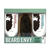 Beard Envy Kit by Billy Jealousy for Men - 3 Pc Kit 3oz Beard Wash, 3oz Beard Control, Brush