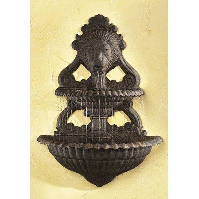 Ladybug 2-Piece Lion Wall Fountain, Wrought (Wall Fountain Pumps)