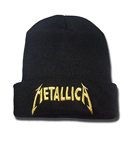 Metallica Band Logo Beanie Fashion Unisex Embroidery Beanies Skullies Knitted Hats Skull Caps