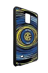 Samsung Galaxy Note 4 Fundas Case Inter Milan FC Team Logo Theme-Galaxy Note 4 Phone Case Fundas Design Folie FC Logo for Woman, Slim fit Bumper Fundas Cool