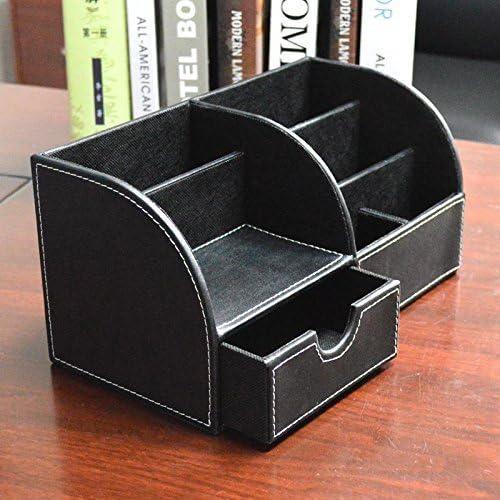 Westeng multifunzione Organizzatore per oggetti in pelle di PU porta penne e cancelleria per ufficio da scrivania