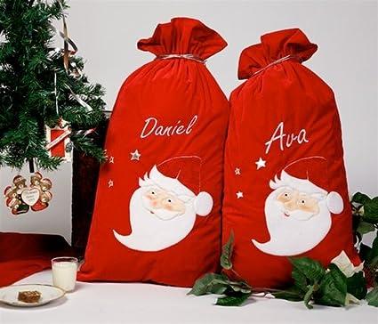 Extra grande hecho a mano personalizado regalos de Navidad calcetín ...