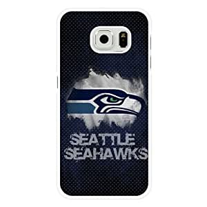Caitin Fashion NFL Seattle Seahawks Pattern Cell Phone Cases Cover for Samsung Galaxy S6 (Laster Technology)