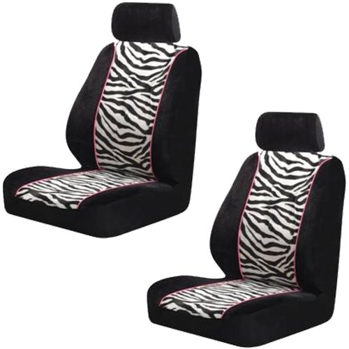 Amazon.com: ZEBRA BUCKET SEAT COVERS (PAIR) BLACK & WHITE STRIPES ...