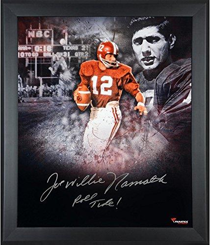 Joe Namath Alabama Crimson Tide Framed Autographed 20