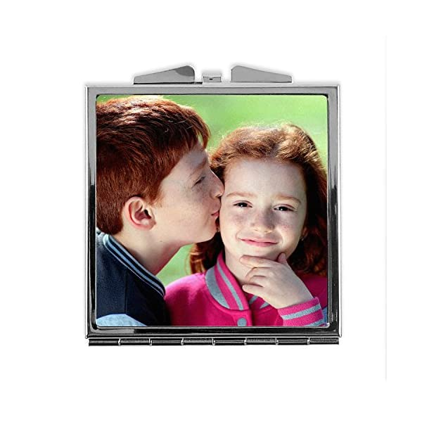 LolaPix Espejo Cuadrado Personalizado con tu Foto, diseño o Texto, Original y Exclusivo. Varias Formas 2