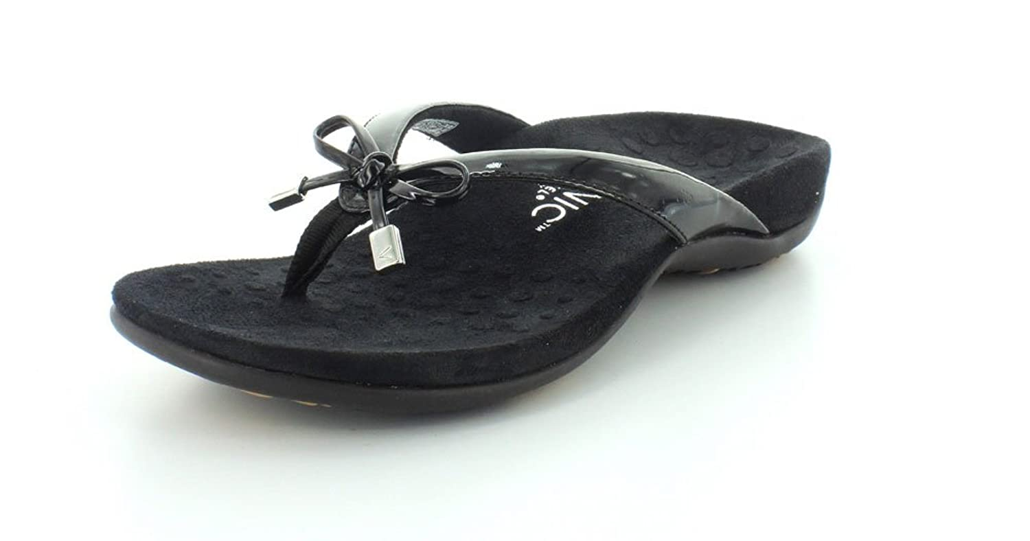 54634f1f145f 80%OFF Vionic with Orthaheel Technology Womens Bella II Thong Sandal Black  Size 11