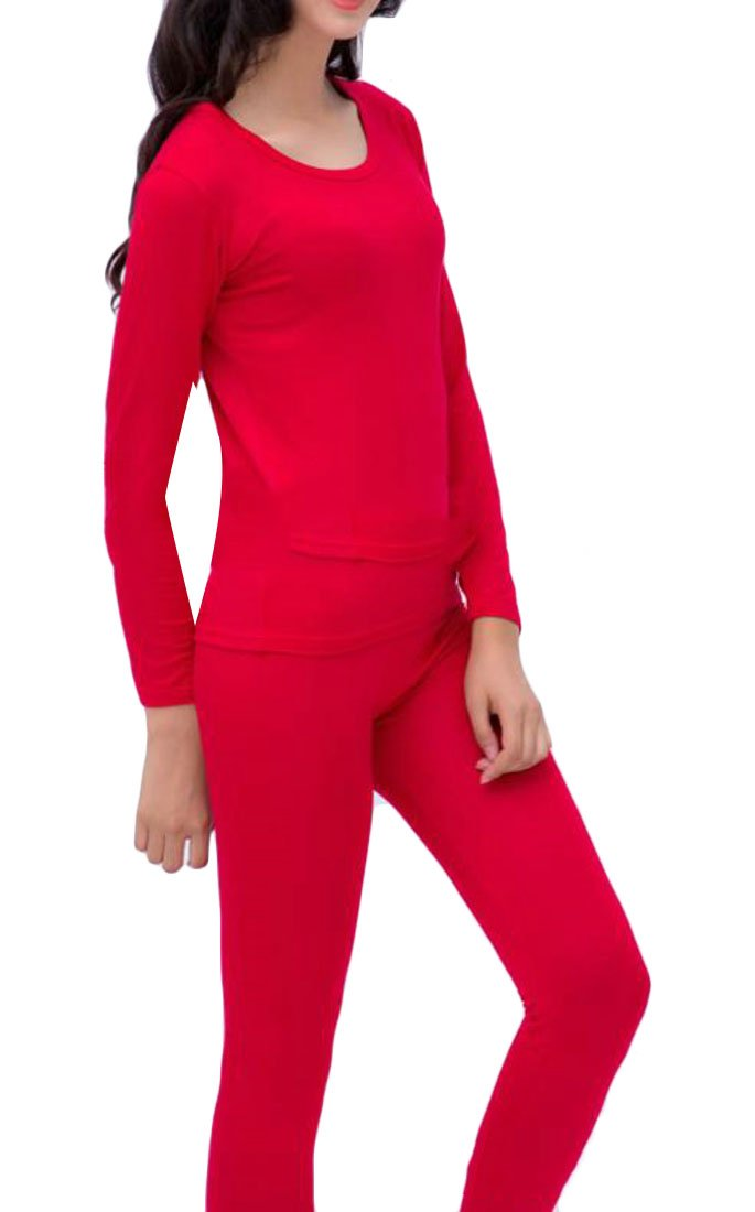 Yayun Yayu Womens Thin Soft Plus Size Thermal Underwear Long Johns Set