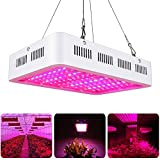 LVJING 1000W LED Plants Grow Light Full Spectrum Double Chips Growing Lamps with UV and IR for Indoor Plants Veg and Flower Hydroponic Greenhouse Kit