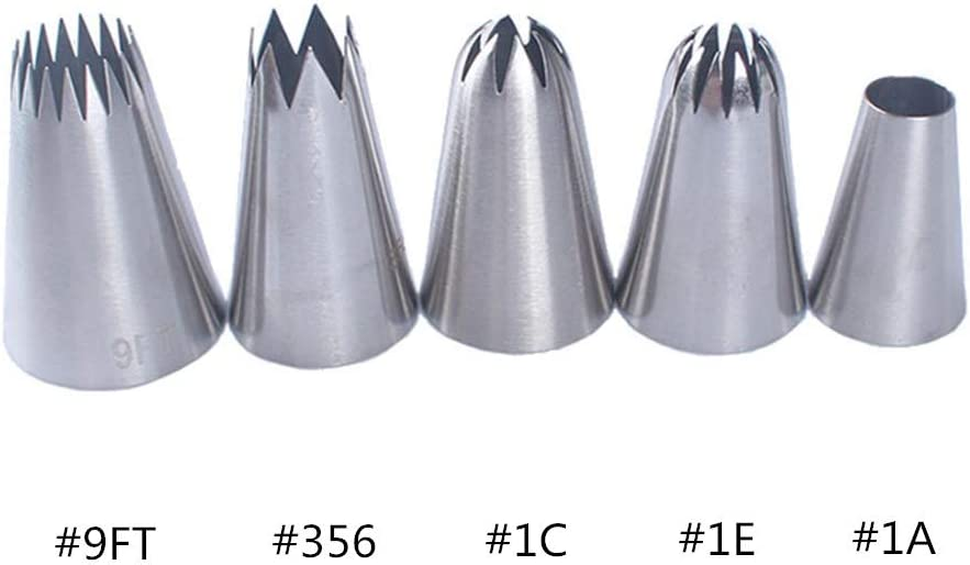 herramienta de decoraci/ón para hornear 2 galletas az/úcar Phantom Sky PhantomSky Juego de 5 piezas de acero inoxidable pasteles