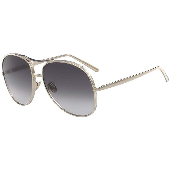Chloé Ce127s, Gafas de sol para Mujer, Gold/Grey 61: Amazon ...