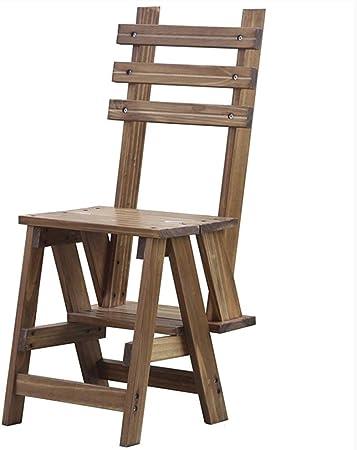 Zapatero TZSMXJ Taburete plegable de 3 escalones Escalera de madera-Silla de escalera interior for el hogar Taburete de escalada de doble uso, Escaleras de cocina Taburetes pequeños for adultos, Niños: Amazon.es: Hogar