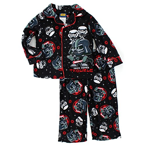 Star Wars Boys Flannel Coat Style Pajamas (Baby/Toddler/Little Kid)