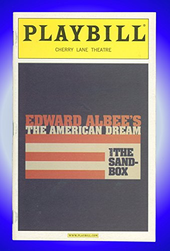 Edward Albee's The American Dream and The Sandbox, Broadway Playbill + Judith Ivey, Lois Markle, George Bartenieff, Harmon Walsh, Jesse Williams, Kathleen Butler