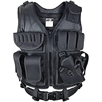 SMARTSTANDARD Large Size Beathable Molle Tactical Vest Cs Field Outdoor Supplies Training Vest