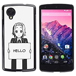 - Hello Grey Anime Japanese Cartoon Message - - Monedero pared Design Premium cuero del tir???¡¯???€????€??????????&f