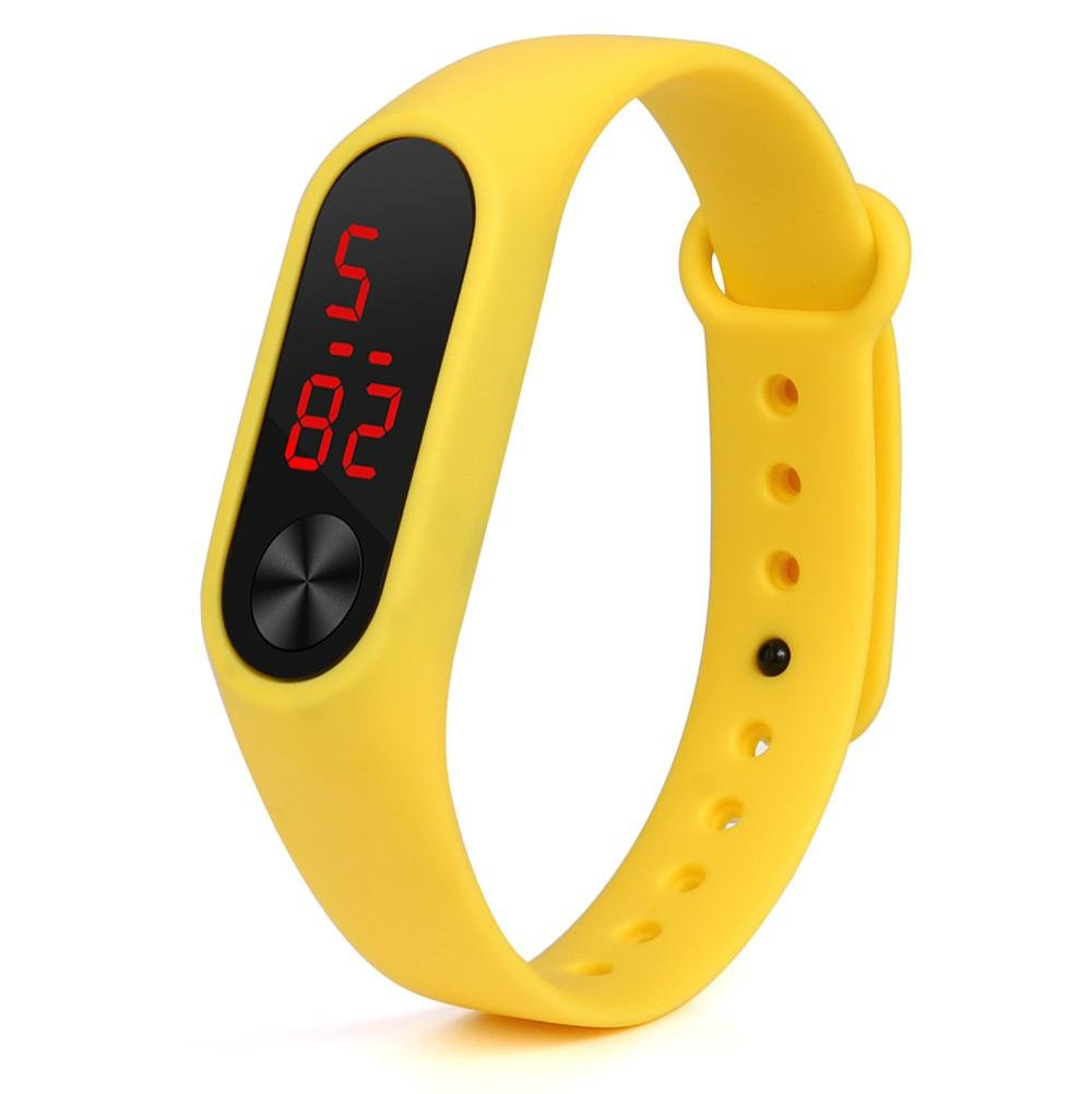 VESNIBA New Fashion Original Silicon Wrist Strap WristBand Bracelet Replacement For Xiaomi Mi Band 2 (yellow)