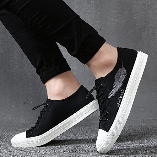 QIDI Chaussures Décontractées Homme Angleterre Respirant Confortable Résistant À L'usure Chaussures De Toile (Couleur : T-4, Taille : EU40/UK7) T-3