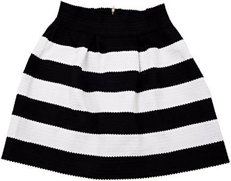 TOOGOO(R)) Falda a Rayas Negra Blanca Cebra para Mujer Vintage ...