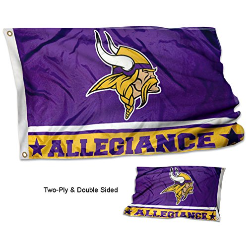 Minnesota Vikings Banner - WinCraft Minnesota Vikings Double Sided Allegiance Flag