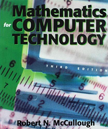 Mathematics for Computer Technology
