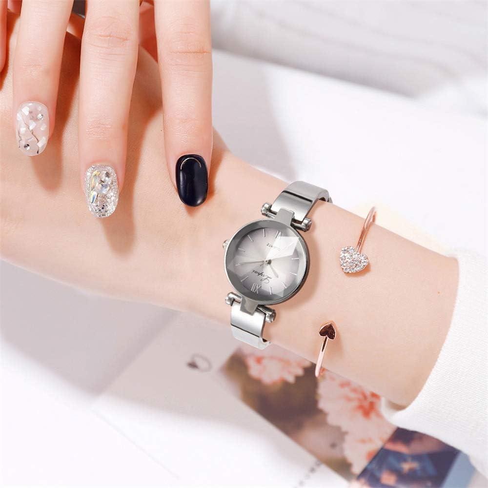 Montre Chrono Nouvelle Montre en Aluminium pour Femmes Mode Classique en Acier Inoxydable Bracelet Montre tempérament Montre à Quartz Montre pour Femmes Argent