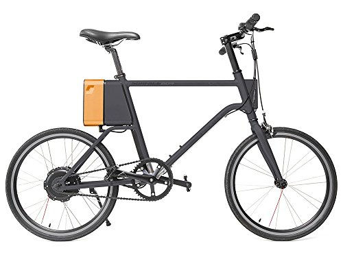 Rosso Motors Yunbike C1 Lightweight City Smart Commuter Electric Bicycle eBike Electric Black